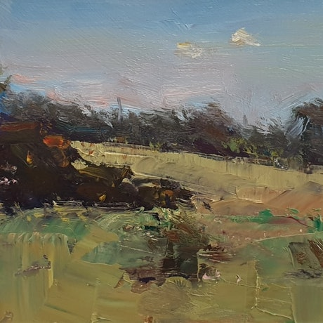 (CreativeWork) Landscape in Mango Hill by Minhan Cho. Oil Paint. Shop online at Bluethumb.
