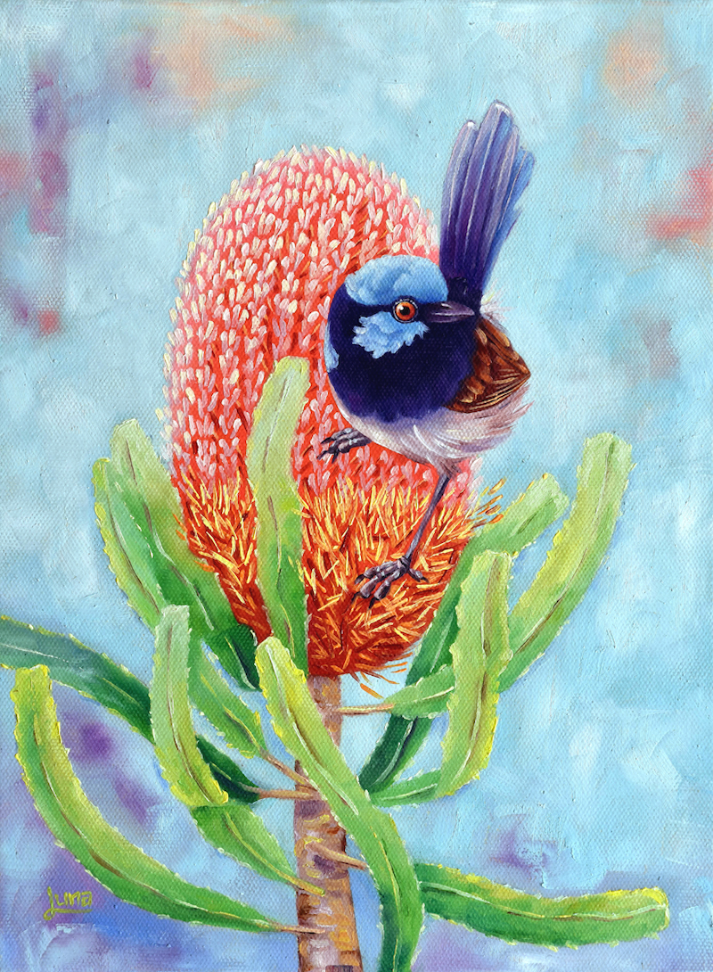 (CreativeWork) Bloom Where You Are Planted by Luna Vermeulen. Oil Paint. Shop online at Bluethumb.