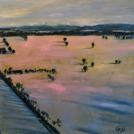 (CreativeWork) Australia  by Kylie van Tol. Acrylic Paint. Shop online at Bluethumb.