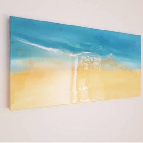 (CreativeWork) Bayside Dreaming by Stephanie Lisa. Resin. Shop online at Bluethumb.