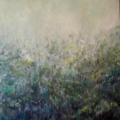 (CreativeWork) The Emerging Forest by Gareth Butcher. Acrylic Paint. Shop online at Bluethumb.