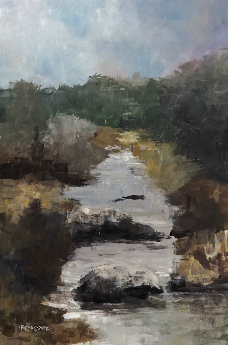 (CreativeWork) Rivulet by R.P. Koster. Acrylic Paint. Shop online at Bluethumb.
