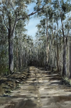 (CreativeWork) Road To Bendora by R.P. Koster. Acrylic Paint. Shop online at Bluethumb.