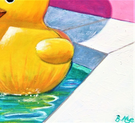 (CreativeWork) Rubber Ducky  by Billy Nye. Acrylic Paint. Shop online at Bluethumb.