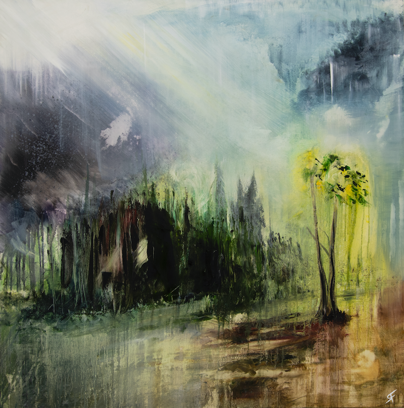 (CreativeWork) Beckoning by Ryan Findlay. Oil Paint. Shop online at Bluethumb.