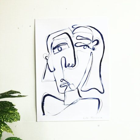 (CreativeWork) Self Expression  by Kate Florence. Drawings. Shop online at Bluethumb.