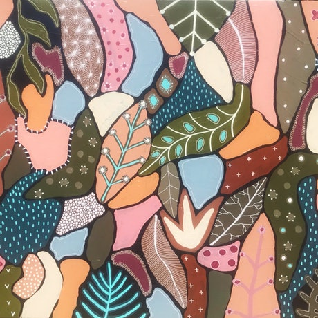 (CreativeWork) Candy Grove by Angelika Pacek. Acrylic. Shop online at Bluethumb.