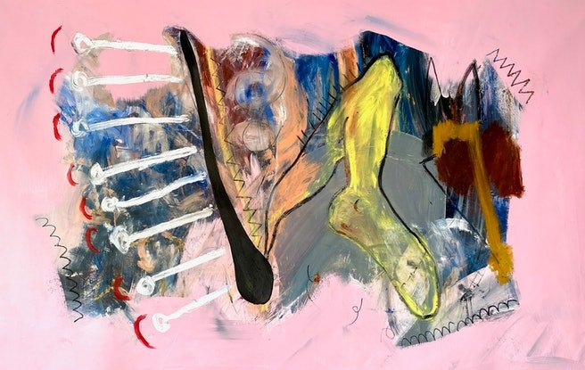 (CreativeWork) The Bedroom Escapade by Shane Bowden. Acrylic Paint. Shop online at Bluethumb.