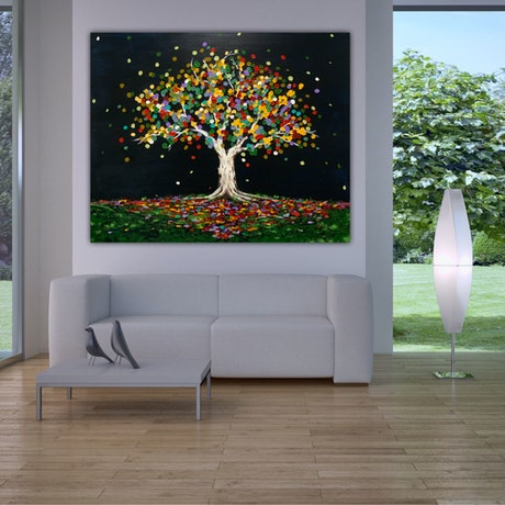 (CreativeWork) Tree of vitality by Tom Roso. Acrylic Paint. Shop online at Bluethumb.