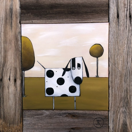 (CreativeWork) Dog #12 by Julie Robertson. Acrylic Paint. Shop online at Bluethumb.