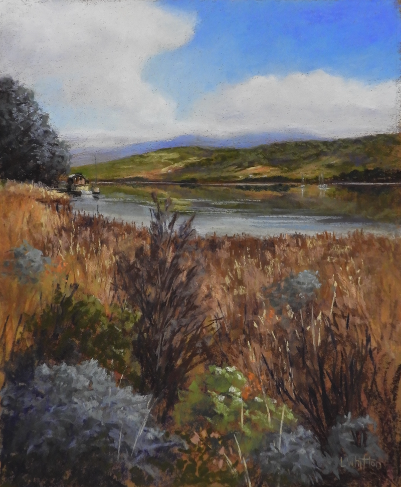 (CreativeWork) Huon River Bend  by Lindy Whitton. Other Media. Shop online at Bluethumb.