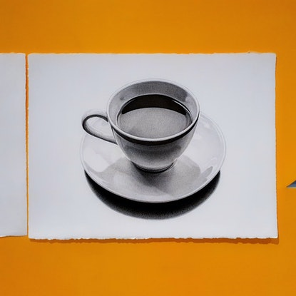 (CreativeWork) Coffee series #2, fineliner ink pen drawing by Jeesoo kim. Drawings. Shop online at Bluethumb.