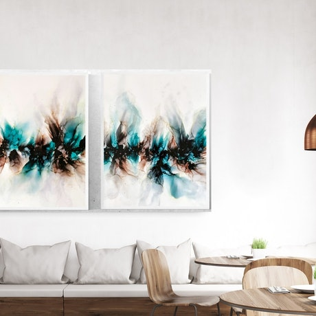 (CreativeWork) MINERAL (DIPTYCH)  by Emiley Rose. Other Media. Shop online at Bluethumb.