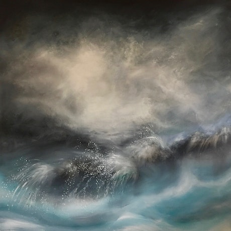 (CreativeWork) Rough Seas by Cathy Yarwood - Mahy. Oil Paint. Shop online at Bluethumb.