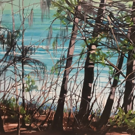 (CreativeWork) The Place Inbetween by Leanne Manns. Acrylic Paint. Shop online at Bluethumb.