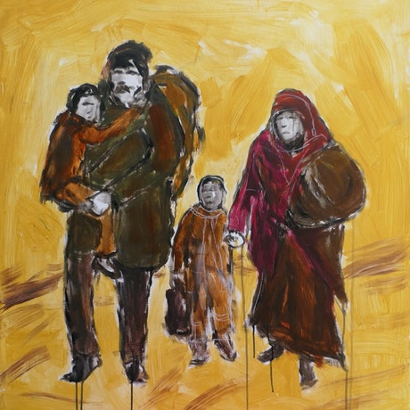 (CreativeWork) Inhumanity by David Lister. Acrylic Paint. Shop online at Bluethumb.