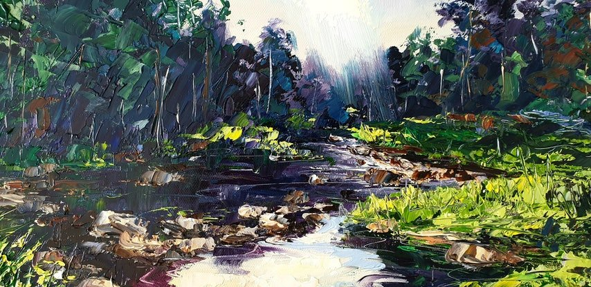 (CreativeWork) Currumbin Valley by Angela Hawkey. Oil Paint. Shop online at Bluethumb.
