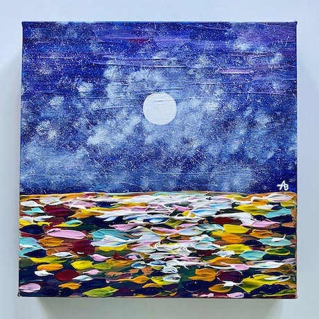 (CreativeWork) Sea of Colour by Abigail Beck. Acrylic Paint. Shop online at Bluethumb.
