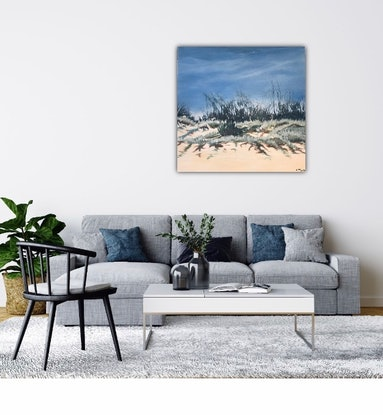 (CreativeWork) The Day's End by Leanne Manns. Acrylic Paint. Shop online at Bluethumb.