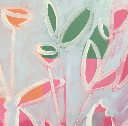 (CreativeWork)  Flowers 4 U 6 by Meredith Howse. Acrylic Paint. Shop online at Bluethumb.