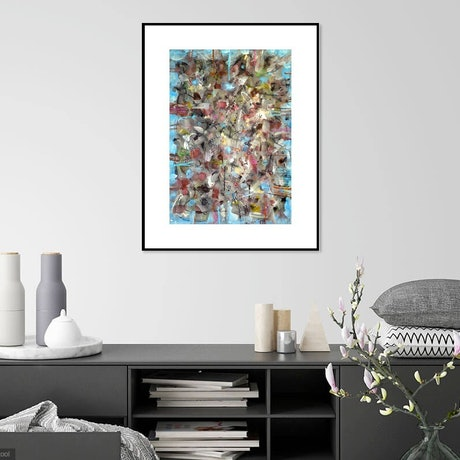 (CreativeWork) Abstract  by John Graham. Mixed Media. Shop online at Bluethumb.