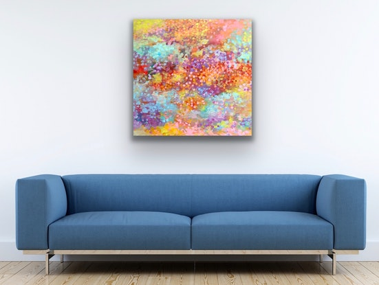 (CreativeWork) Over the Rainbow  by Theo Papathomas. Acrylic Paint. Shop online at Bluethumb.