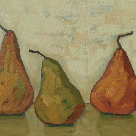 (CreativeWork) Disco Dancing Pears by Tetyana Khytko. Oil Paint. Shop online at Bluethumb.