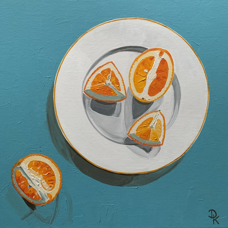 (CreativeWork) Blood Orange #2 by Dominika Keller. Acrylic Paint. Shop online at Bluethumb.