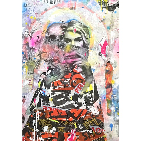 (CreativeWork) Patron Saint of Adelaide Street by Cold Ghost. Mixed Media. Shop online at Bluethumb.