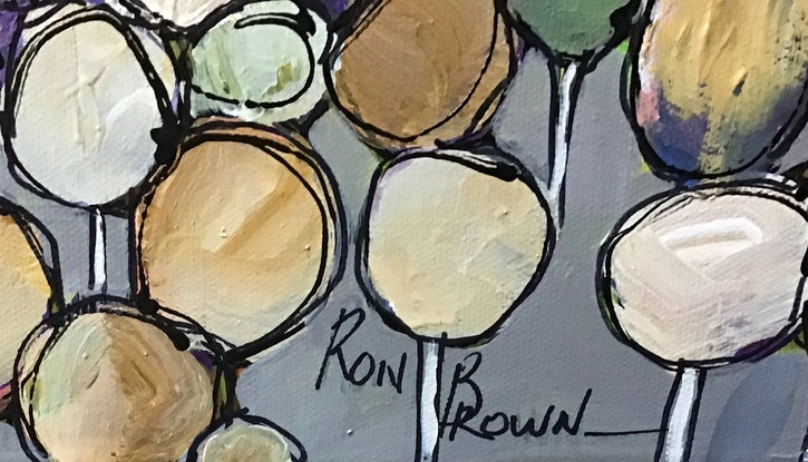 (CreativeWork) Spring creek  by Ron Brown. Acrylic Paint. Shop online at Bluethumb.