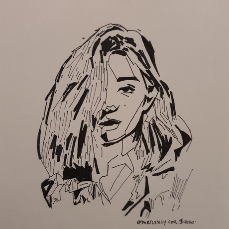 (CreativeWork) Effortlessly cool by Rebecca lam. Drawings. Shop online at Bluethumb.