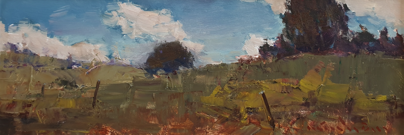 (CreativeWork) Landscape in Laceys Creek by Minhan Cho. Oil Paint. Shop online at Bluethumb.