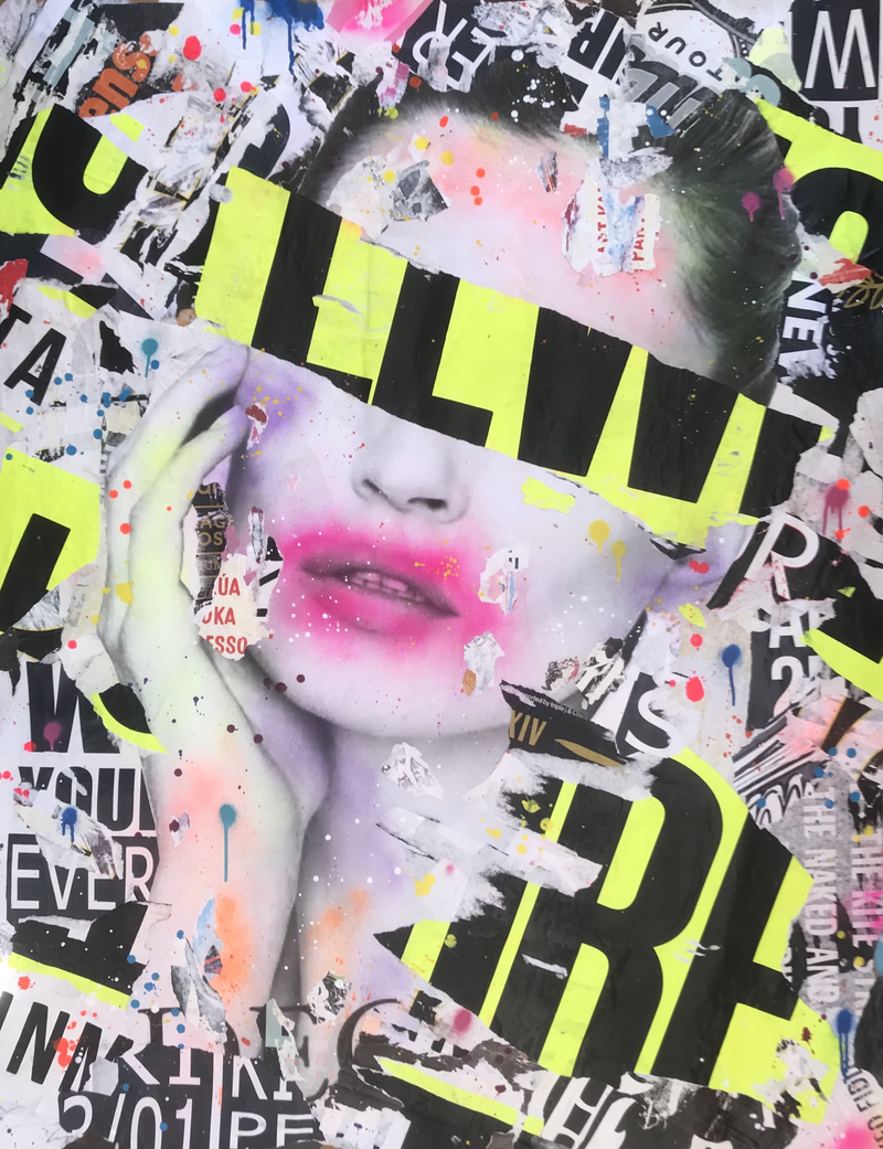 (CreativeWork) STREET ICON NO 222 by Cold Ghost. Mixed Media. Shop online at Bluethumb.