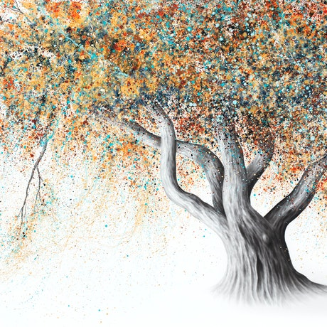 (CreativeWork) Rusty Autumn Tree by Ashvin Harrison. Acrylic Paint. Shop online at Bluethumb.