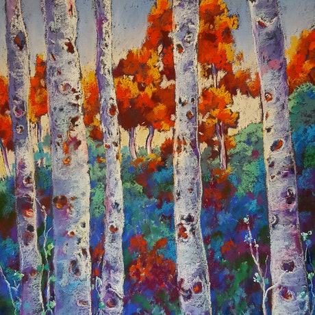 (CreativeWork) Birches by Helen Miles. Other Media. Shop online at Bluethumb.