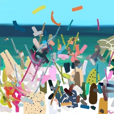 (CreativeWork) Beach Party  Ed. 2 of 25 by Pip Phelps. Print. Shop online at Bluethumb.