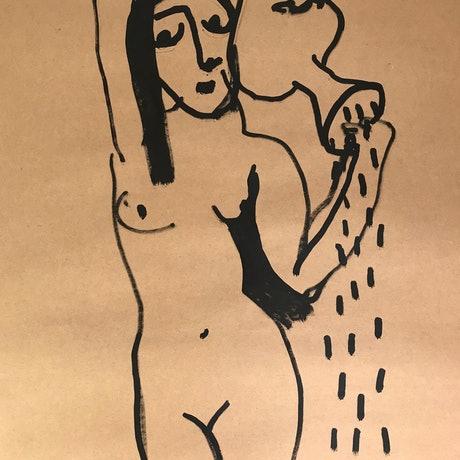 (CreativeWork) Original Water Carrier by Nadine Sawyer. Other Media. Shop online at Bluethumb.