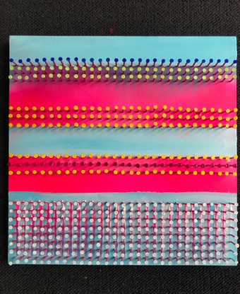 (CreativeWork) Pink sunset by Will Dickerson. Mixed Media. Shop online at Bluethumb.