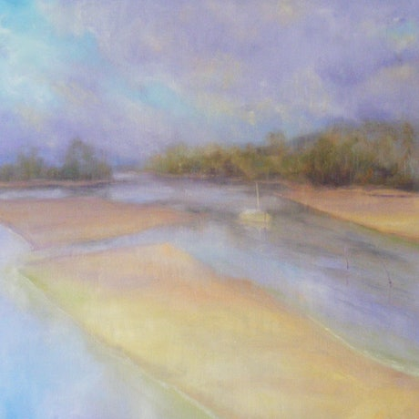 "(CreativeWork) ""LOW TIDE"" by Daniela Selir. Oil Paint. Shop online at Bluethumb."