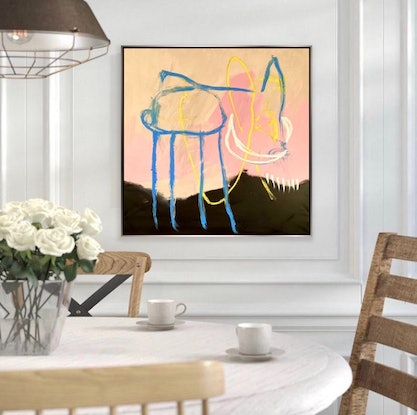 (CreativeWork) Love my Frenchie  by Shane Bowden. Acrylic Paint. Shop online at Bluethumb.