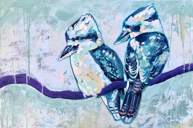 (CreativeWork) Peaceful Pair by Kylee Rees. Acrylic Paint. Shop online at Bluethumb.