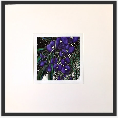(CreativeWork) Purple Hovea 3 of 3 by Tania Daymond. Drawings. Shop online at Bluethumb.