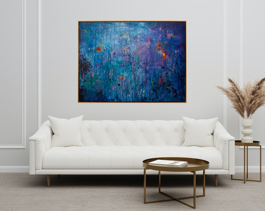 (CreativeWork) The Depth Of Solitude  by Nicole Reed. Acrylic Paint. Shop online at Bluethumb.