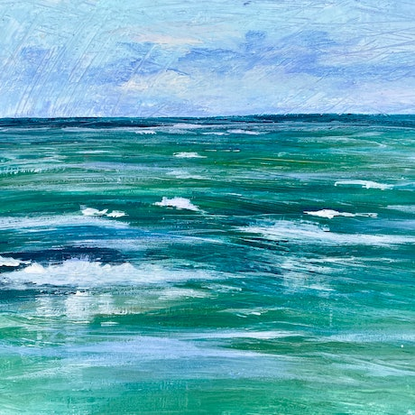 (CreativeWork) Tide  Plein Air Study by Pip Phelps. Acrylic Paint. Shop online at Bluethumb.