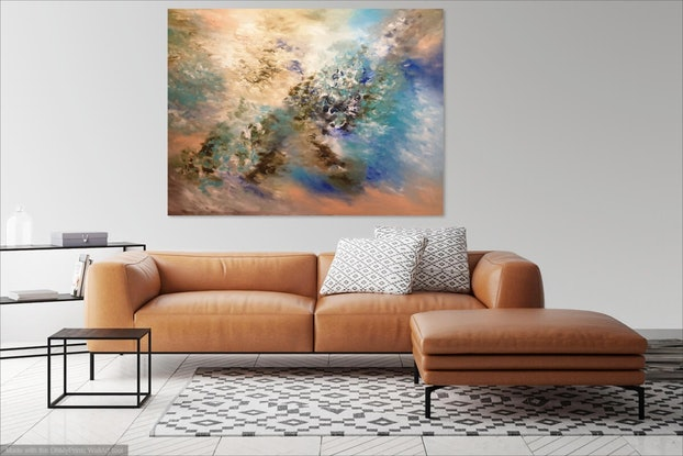 (CreativeWork) Pastel Garden  by Lucile Hibbsio. Oil Paint. Shop online at Bluethumb.