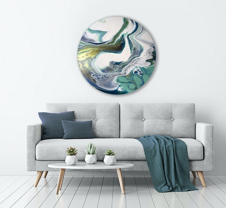 (CreativeWork) Waterdance by Brigitte Ackland. Acrylic Paint. Shop online at Bluethumb.
