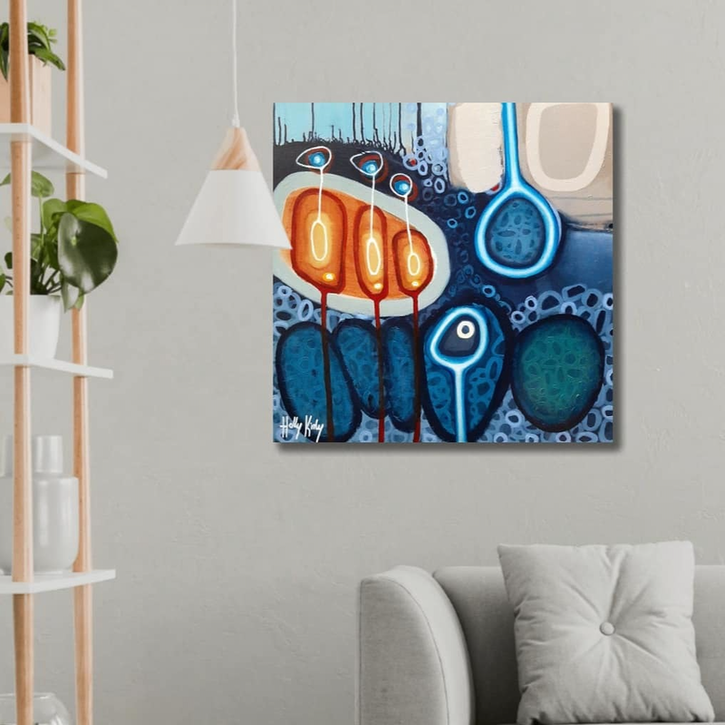 (CreativeWork) Bouyancy Over The Deep by Holly Kirby. Acrylic Paint. Shop online at Bluethumb.