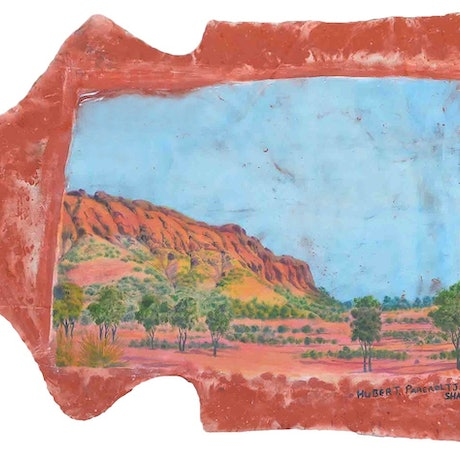 (CreativeWork) Home. Tjoritja (The West MacDonnell Ranges), Central Australia, 2019 - Hubert Pareroultja & Shannon Alexander Murphy  by Shannon Alexander Murphy. Mixed Media. Shop online at Bluethumb.