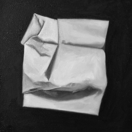 (CreativeWork) The First Tissue by Alanna Valera. Oil Paint. Shop online at Bluethumb.