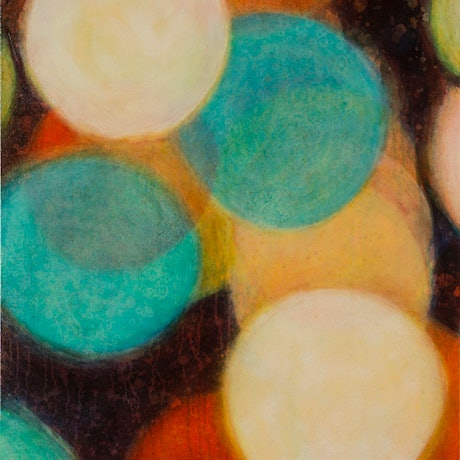 (CreativeWork) Nocturnal Cluster VII - Large Abstract Painting by Jacquelyn Stephens. Oil Paint. Shop online at Bluethumb.